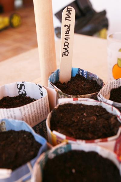 φυτεύουμε μαζί με τα παιδιά σπόρους