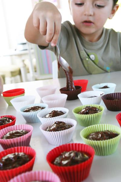 συνταγή σοκολατένια μάφιν