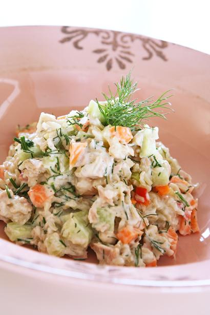 συνταγή ρυζοσαλάτα με λαχανικά